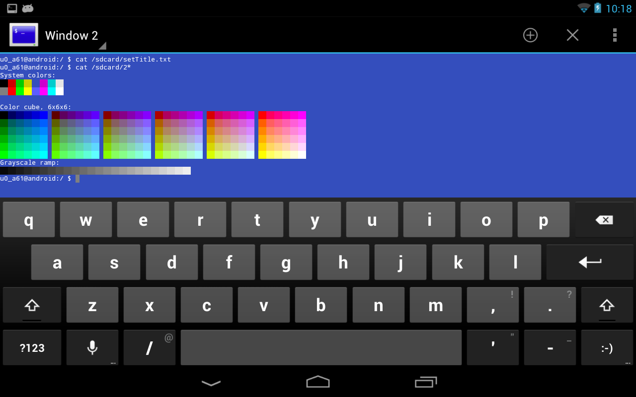 Terminal Emulator for Android: captura de pantalla