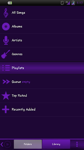 Poweramp Purple Silk Skin