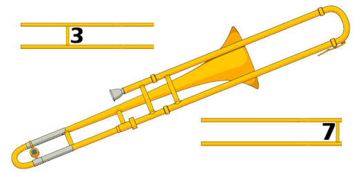 how to play trombone slide positions