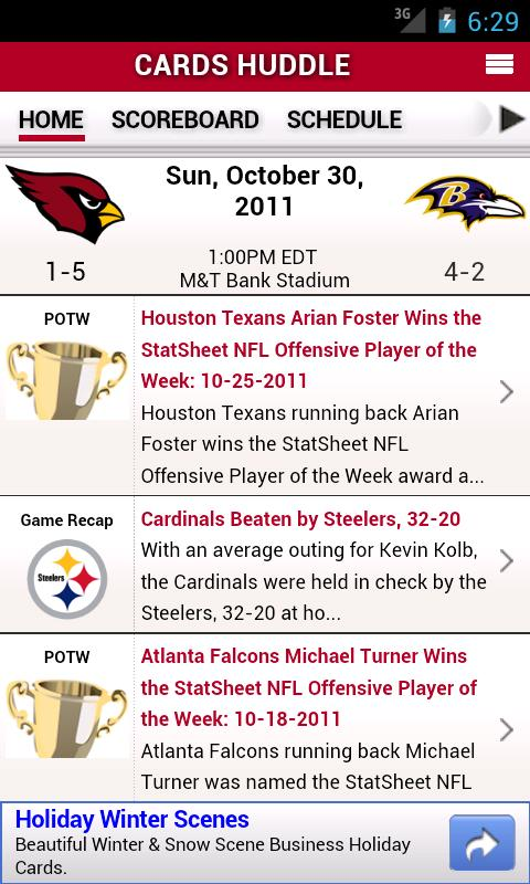 Cardinals by StatSheet - screenshot