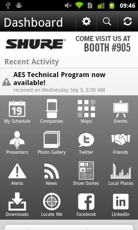 AES Mobile Convention 2012 - screenshot
