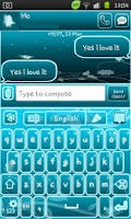 Screenshot of Go Keyboard Fairy Blue