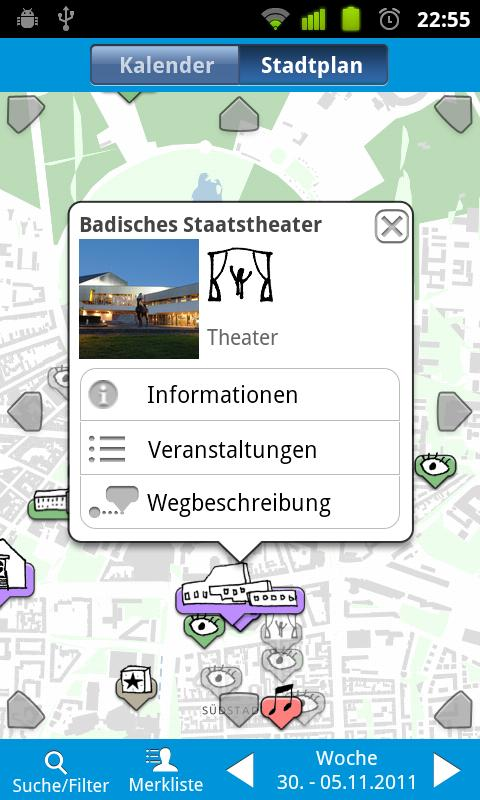 Kultur in Karlsruhe - screenshot
