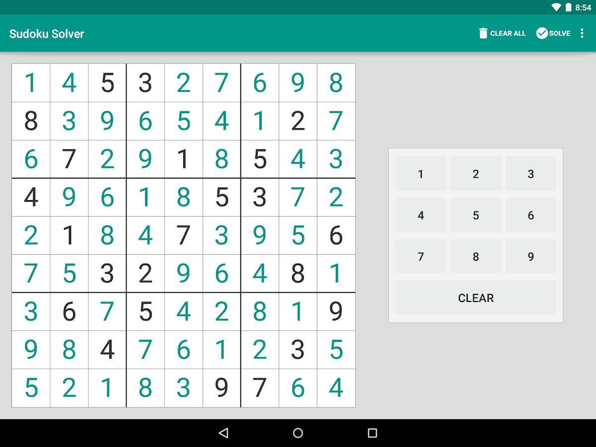 Sudoku Solver - screenshot