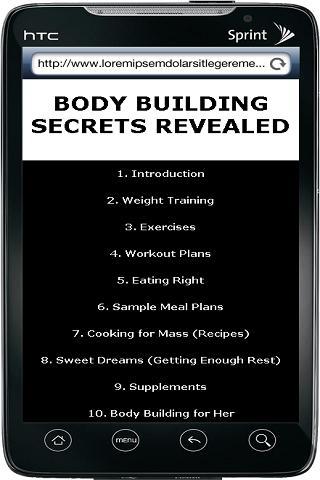 Body Building Technique