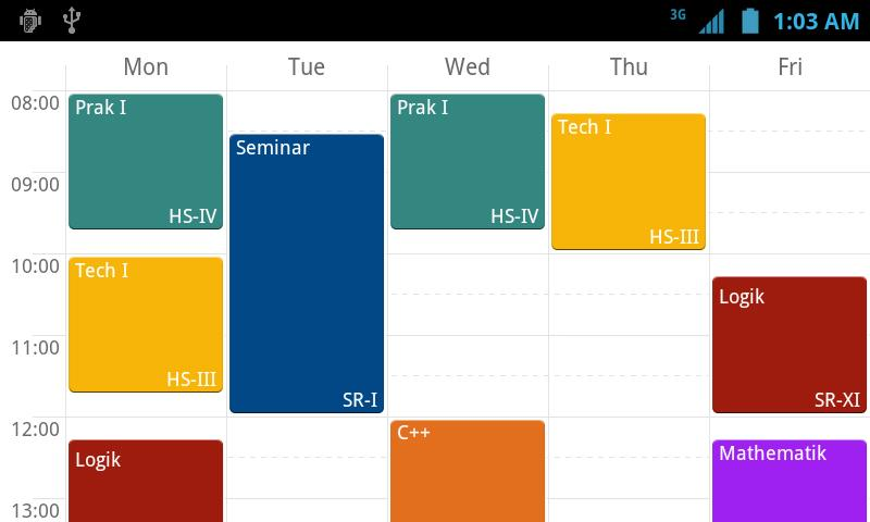 yasp! Class Schedule - screenshot