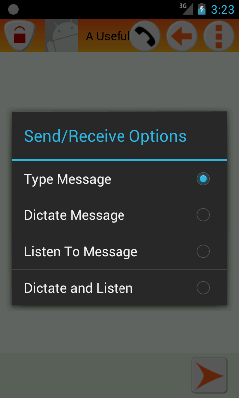 Text Message Privacy- screenshot