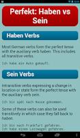 Screenshot of German Verbs