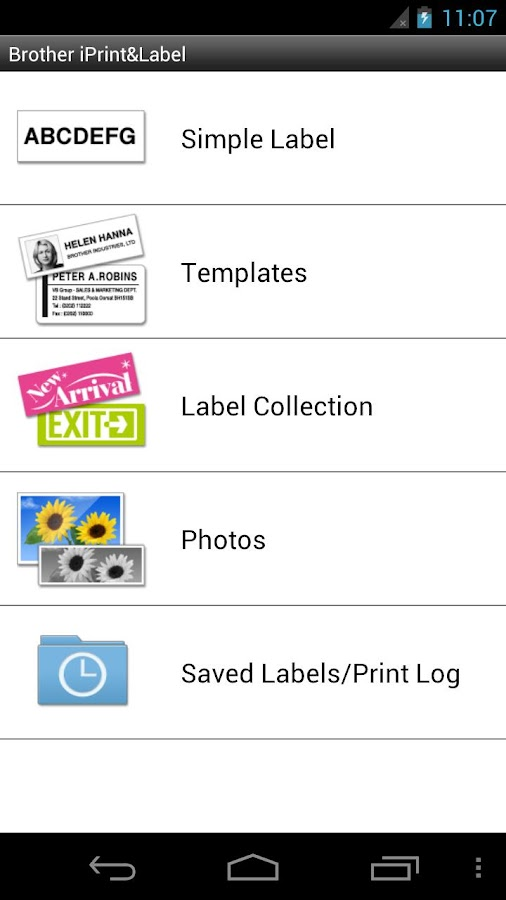 Brother iPrint&Label - screenshot
