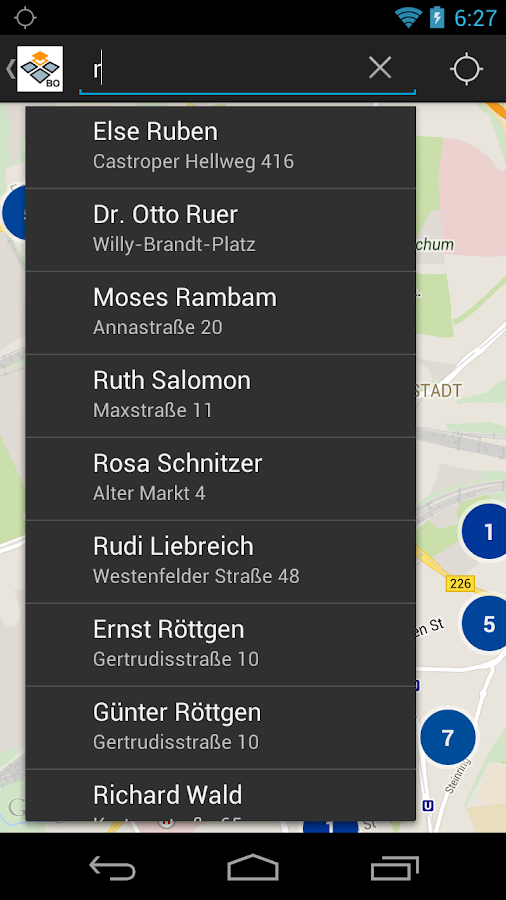 Stolpersteine in Bochum- screenshot
