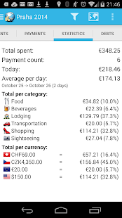 Travel Money - Group Expenses- screenshot thumbnail