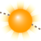 La position du soleil icon