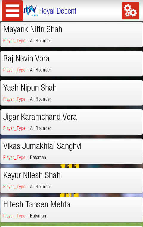 Utsav Yuvarambh Cricket App- screenshot