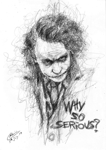Joker Scribble Drawing : Gallery for gt drawings of the joker why so serious