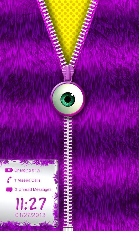 ★Purple Striped Zipper Locker★ - screenshot