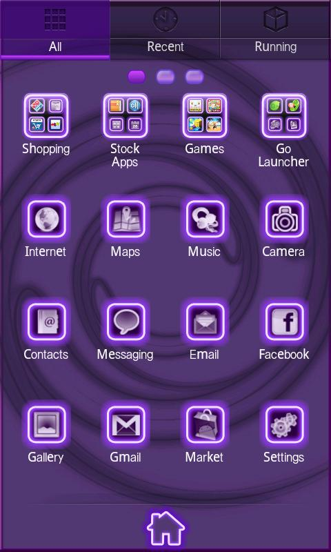 Neon Purple Style Go Launcher - screenshot