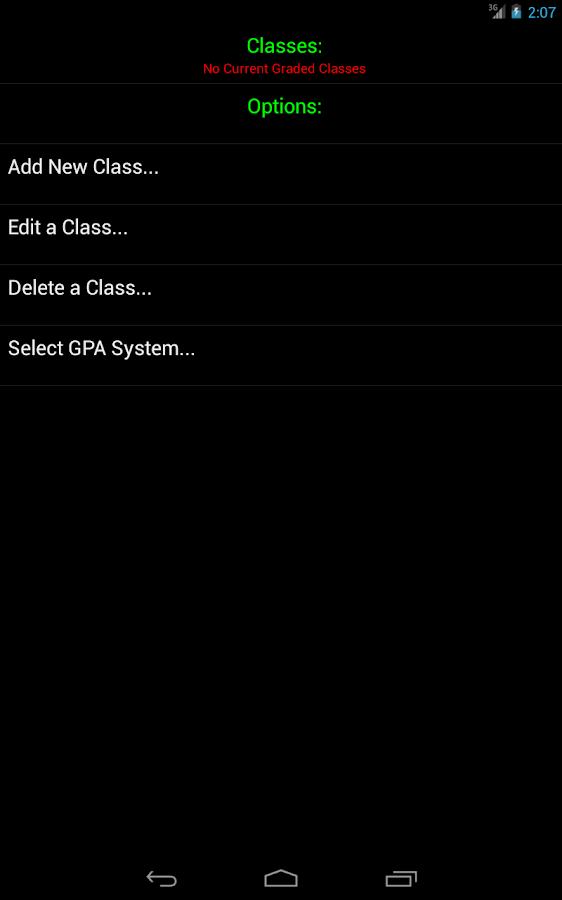 Android Gradebook- screenshot