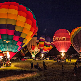 Glowing Colors by Deborah Felmey - Transportation Other ( colors, balloon glow, hot air ballon, balloon, preakness,  )