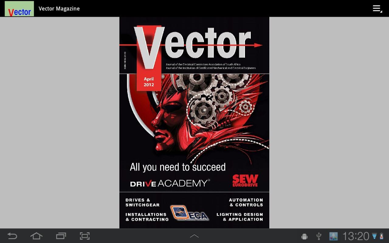 Vector Magazine- screenshot