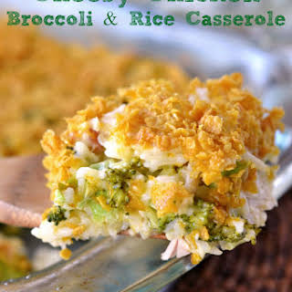 Cheesy Chicken Broccoli and Rice Casserole.