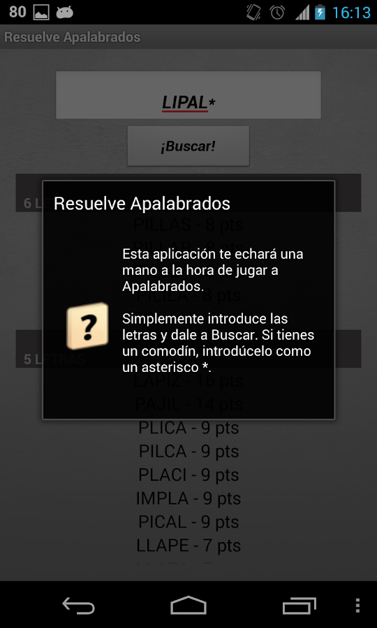 Solve Apalabrados Spanish - screenshot