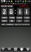 Screenshot of EXILE mobile Clock