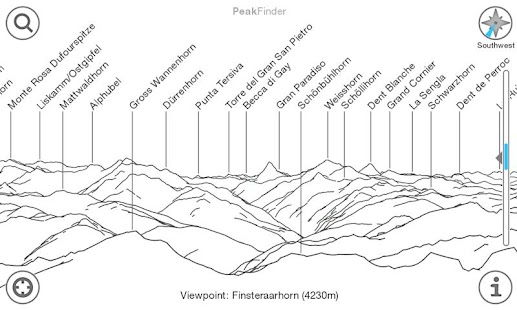 PeakFinder Alps - screenshot thumbnail
