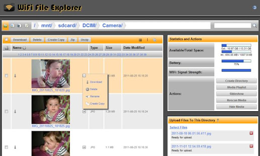 Screenshots of WiFi File Explorer for iPhone