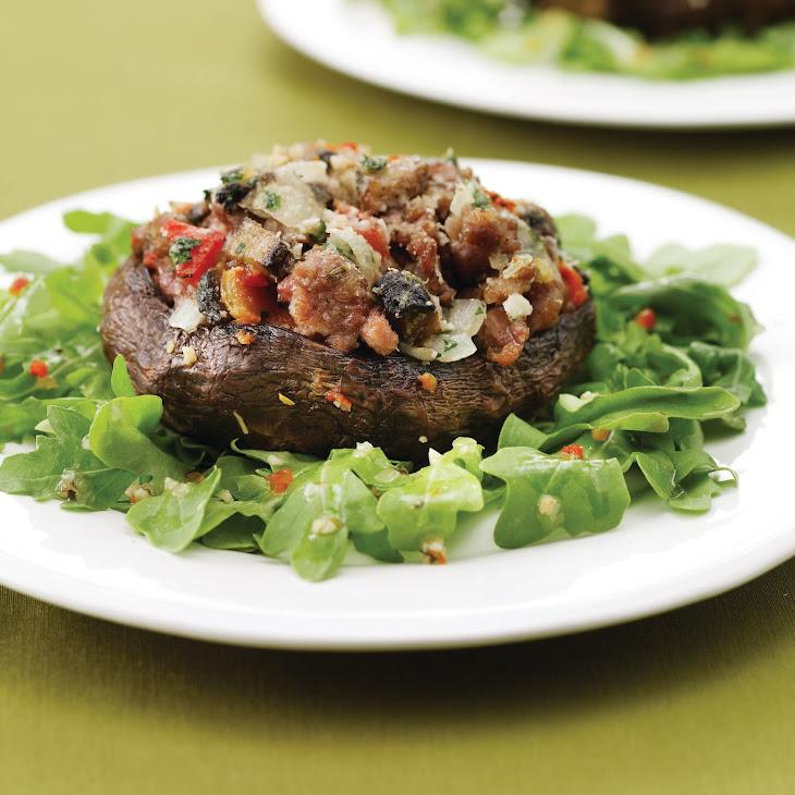 Italian Stuffed Portobello Salad