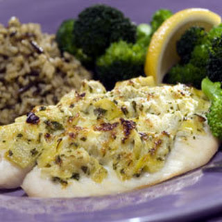 Artichoke-crusted Tilapia Fillets.