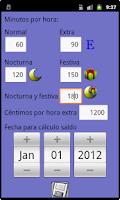 Screenshot of Control de horas