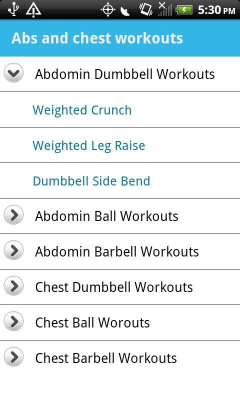 Abs & Chest Workouts - screenshot