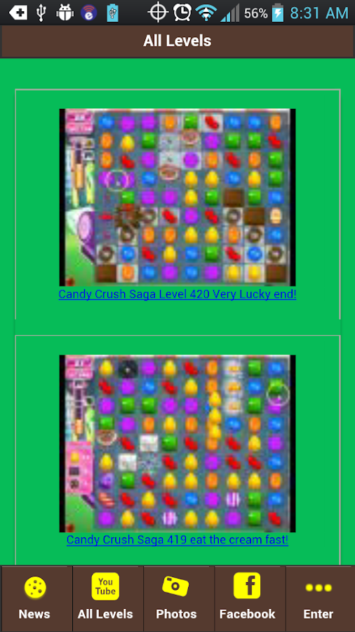 Unofficial Candy Crush Levels - screenshot