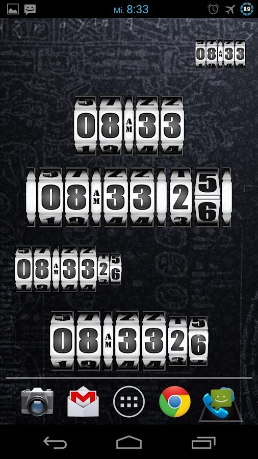 3D Rolling Clock WHITE- screenshot