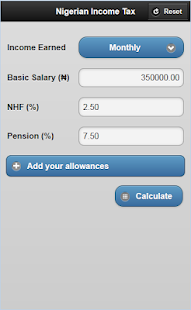Net Pay Calculator | Nigeria Tax Net Pay Calculator Apps On Google Play