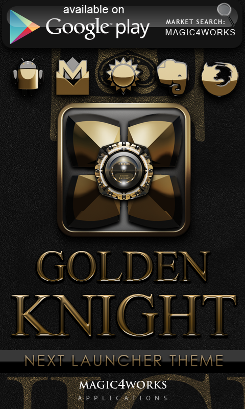 GO Locker Theme Golden Knight - screenshot