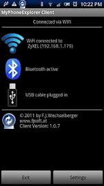 MyPhoneExplorer Client Screenshot 1