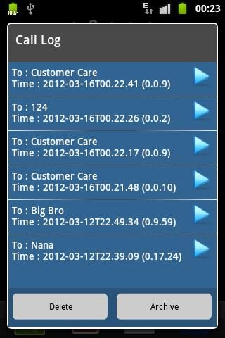 AndroRec Free Call Recorder - screenshot