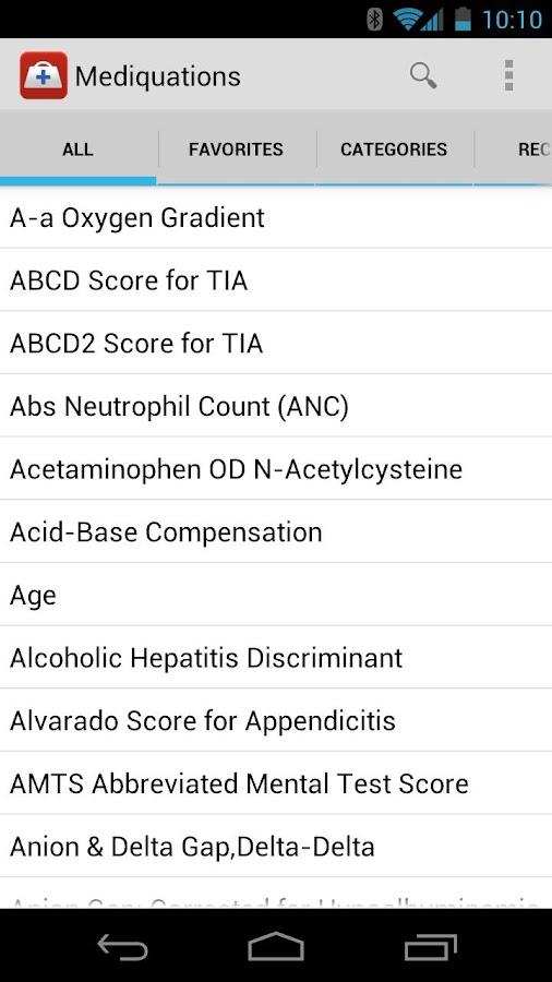 Mediquation Medical Calculator- screenshot