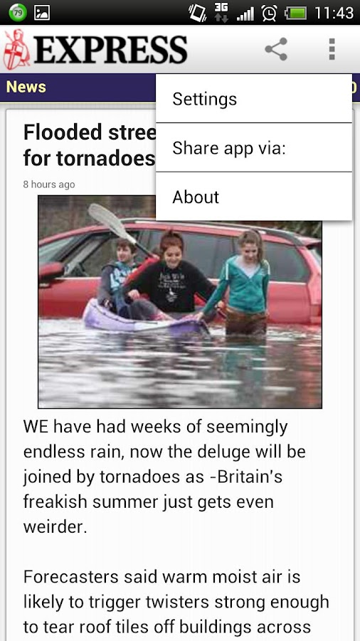 Daily Express Lite (Official) - screenshot