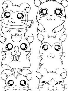 Paint Hamtaro Coloring