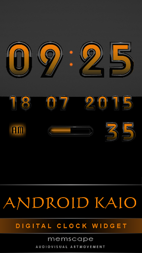 Digital Clock Android Kaio