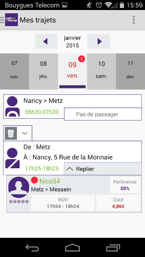 Covoiturage Mobigo Bourgogne- screenshot