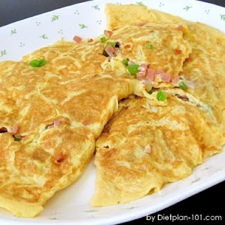 Bell Pepper Ham Cheesy Omelet (for Atkins Diet Phase 1) Recipe