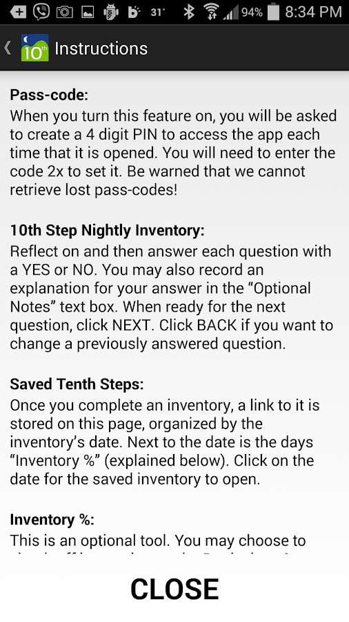 Tenth Step Android Apps on Google Play – 10th Step Inventory Worksheet