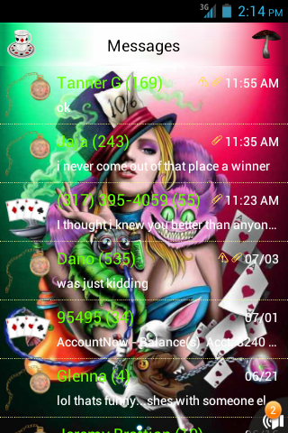 Alice Wonderland GO SMS THEME