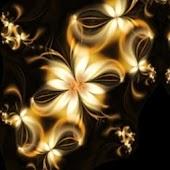 3D golden flower