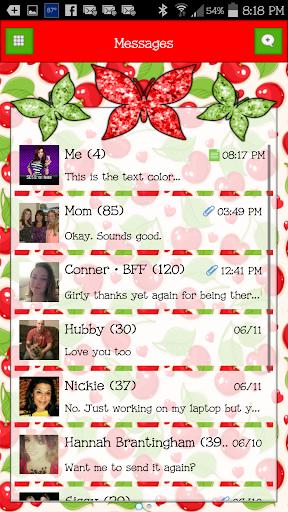GO SMS - Butterflies 9