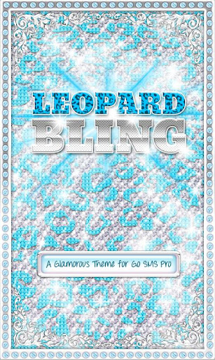 ♦BLING♦ Theme Teal Leopard SMS