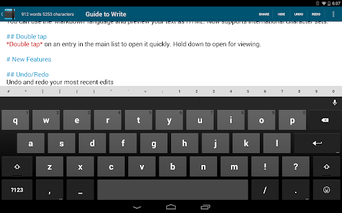 Write: Tablet Notepad/Journal- screenshot thumbnail